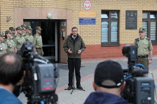 Morawiecki: Reżim Łukaszenki wybrał niewłaściwą granicę. Granica Polski jest dobrze strzeżona