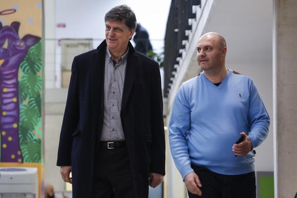 Žarko Zečević i urednik sportske rubrike