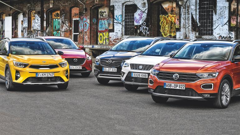 Kia Stonic, Mazda CX-3, Opel Crossland X, Seat Arona i Volkswagen T-Roc