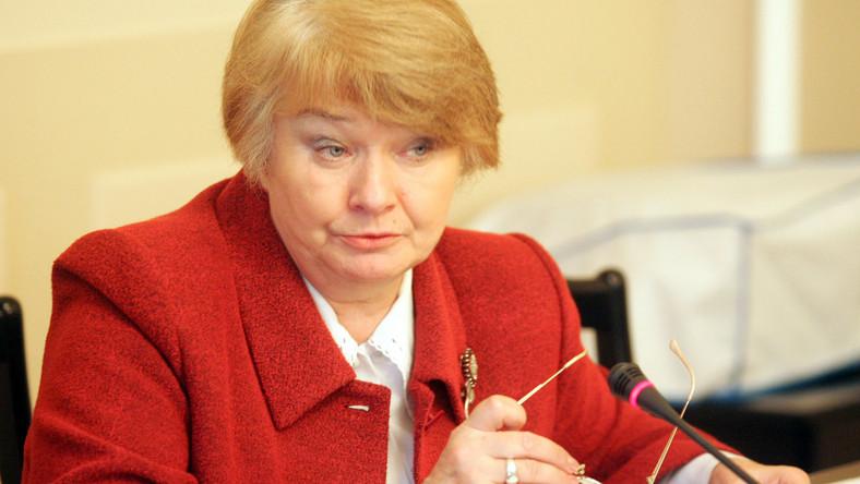 Posłanka LiD Krystyna Łybacka chce likwidacji ocen z religii