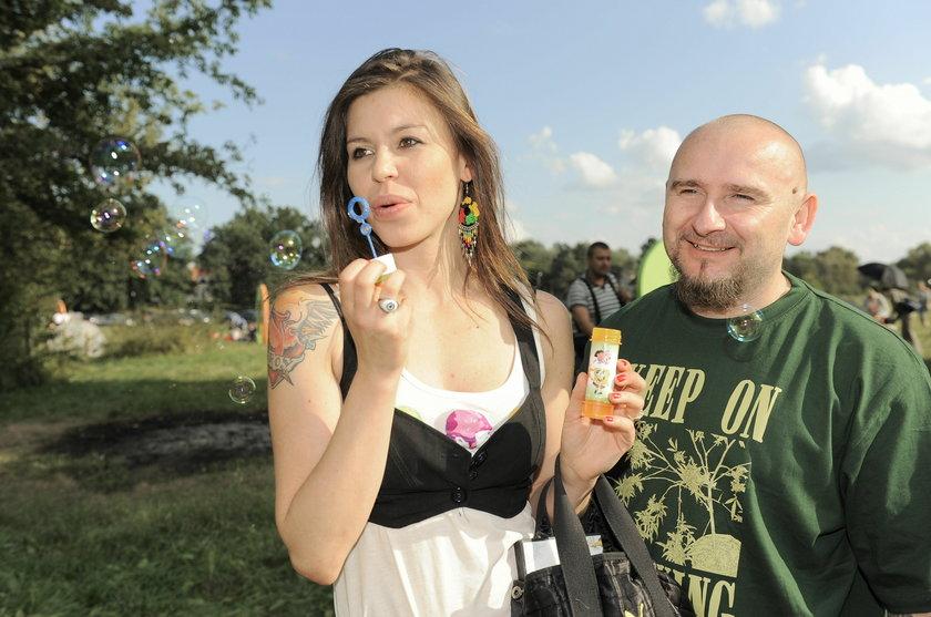 Liroy z żoną Joanną Krochmalską