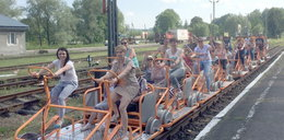 Pociąg na pedały podbija Bieszczady