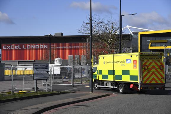 Jedna od privremenih bolnica u Britaniji