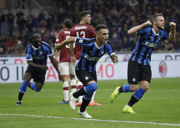 Fudbaleri Intera slave pogodak u duelu sa Milanom