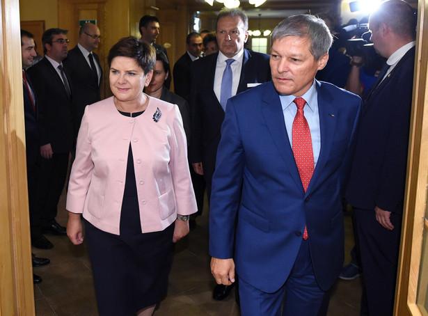 Premier Beata Szydło podczas spotkania z premierem Rumunii Dacianem Ciolosem