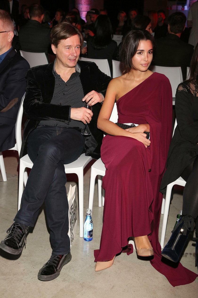 Mariusz Treliński i Sara Faraj na pokazie