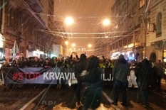 opozicija protest  beograd foto A. Milutinović