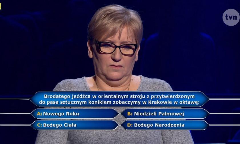 """""""Milionerzy"""" padło pytanie o Lajkonika"""