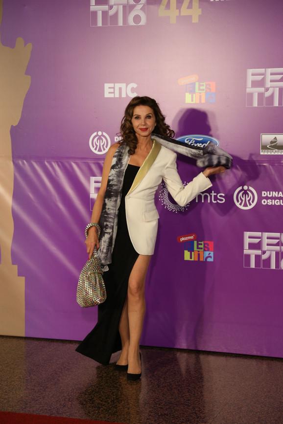 Španska glumica pozira fotoreporterima u Sava centru