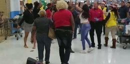 Bijatyka w markecie w święta. Wstrząsające nagranie