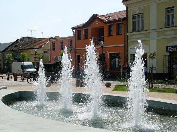 Fontanna w centrum Šturova