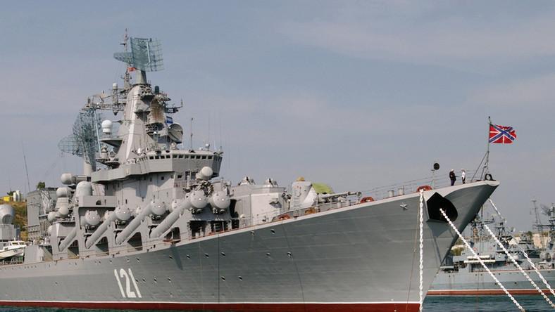 Rosyjski okręt w Sewastopolu na Krymie