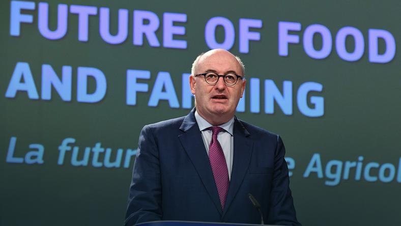 Unijny komisarz ds. rolnictwa i rozwoju obszarów wiejskich Phil Hogan