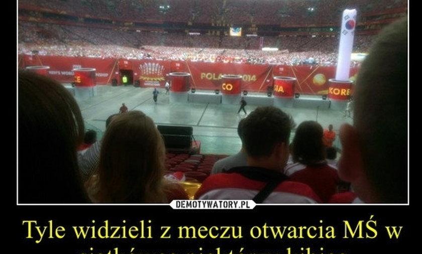 Skandal na meczu otwarcia siatkarskiego mundialu! Fani zapłacili za bilety a nic nie widzieli!