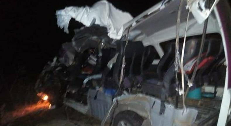 Road accident at Kingaatuani area on the Machakos-Kitui road