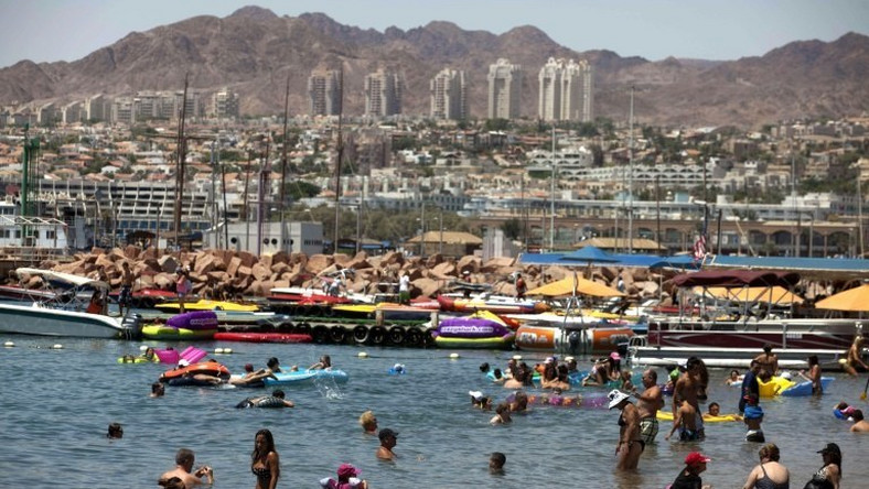 View of the Israeli Red Sea resort of Eilat in 2011
