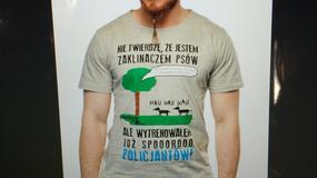 Sylwester Wardęga w prowokacyjnej koszulce