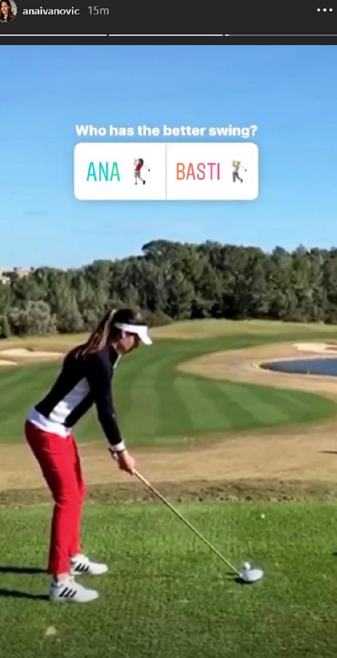 Ana vs Švajni, jedno protiv drugog samo u golfu