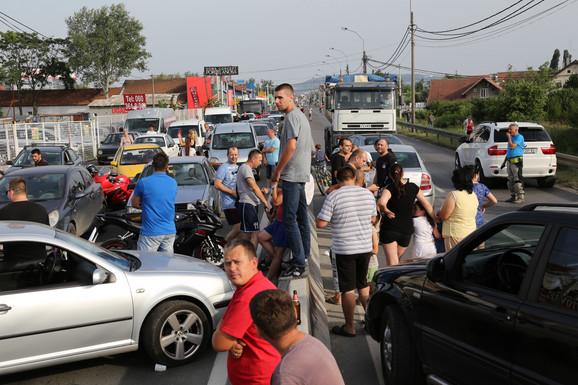 Protest na Pančevačkom mostu