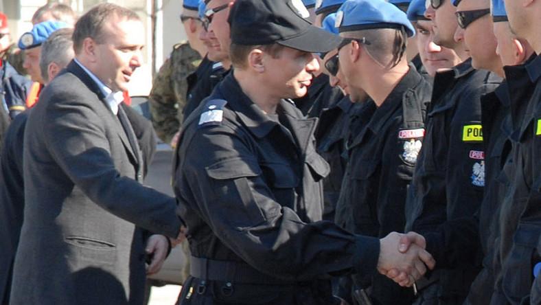 Minister Schetyna spotkał się z polskimi policjantami w Kosowie