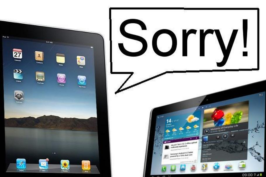Apple Samsung Sorry