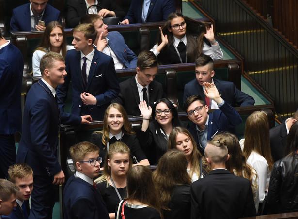 Posiedzenie Sejmu Dzieci i Młodzieży2