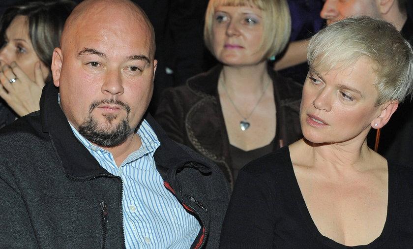 Katarzyna Figura z mężem