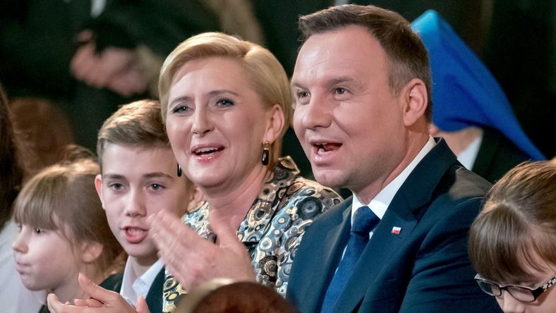 Prezydent Andrzej Duda z żoną Agatą Kornhauser-Dudą