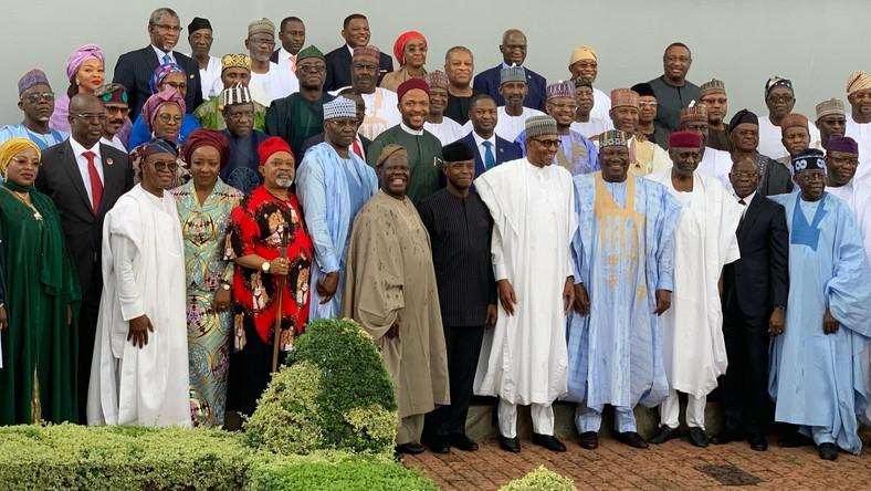 President Muhammadu Buhari and Ministers [Twitter/@NGRPresident]