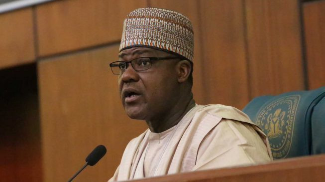 Speaker House of Reps, Yakubu Dogara put the bill to vote and the lawmakers voted against it. (TheCable)