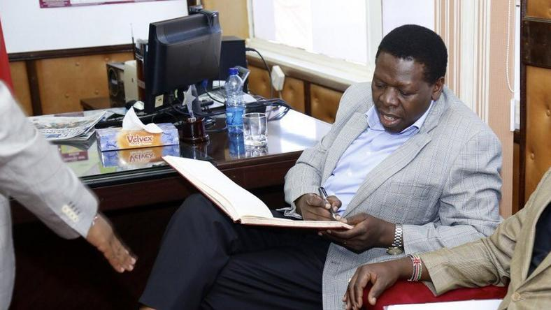 Devolution CS Eugene Wamalwa during a recent visit to the Embu County (Twitter)