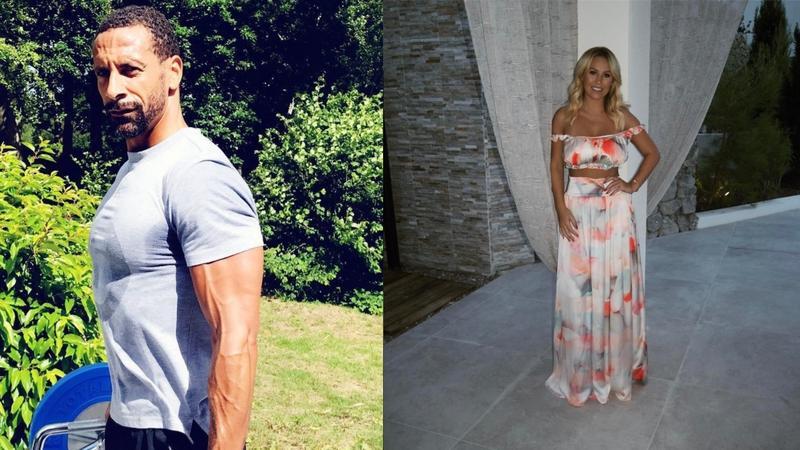 Rio Ferdinand i Kate Wright