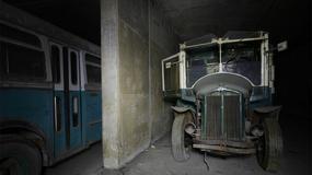 """Magazyn środków transportu publicznego w belgijskim """"tunelu widmo"""""""