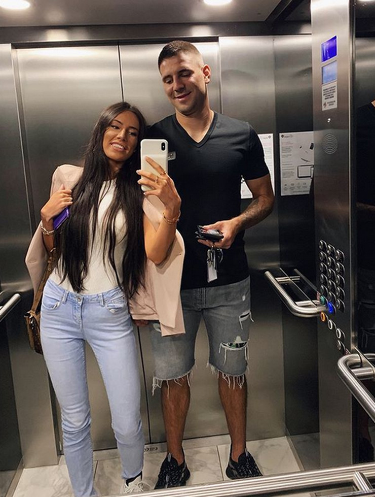 Aleksandar Mitrović i supruga Kristina