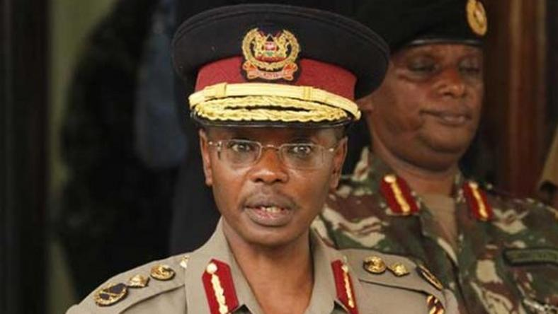 IG Joseph Boinett. He has dismissed claims linking Hessy wa Dandora to th police service.