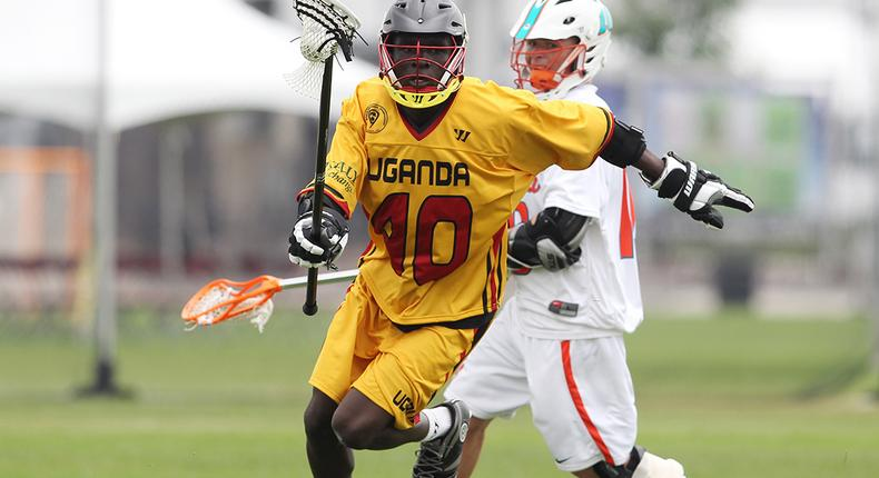 A Uganda Lacrosse player during a past match