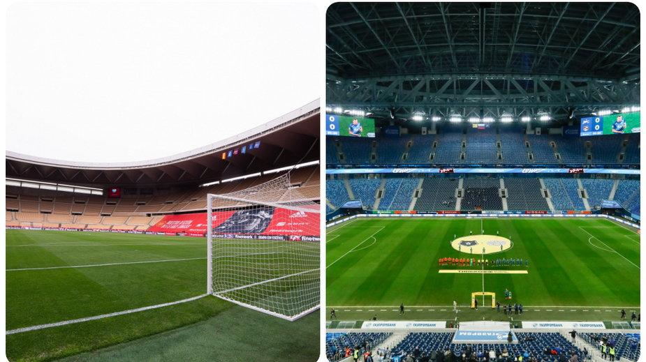 La Cartuja w Sewilli i Stadion w Sankt Petersburgu