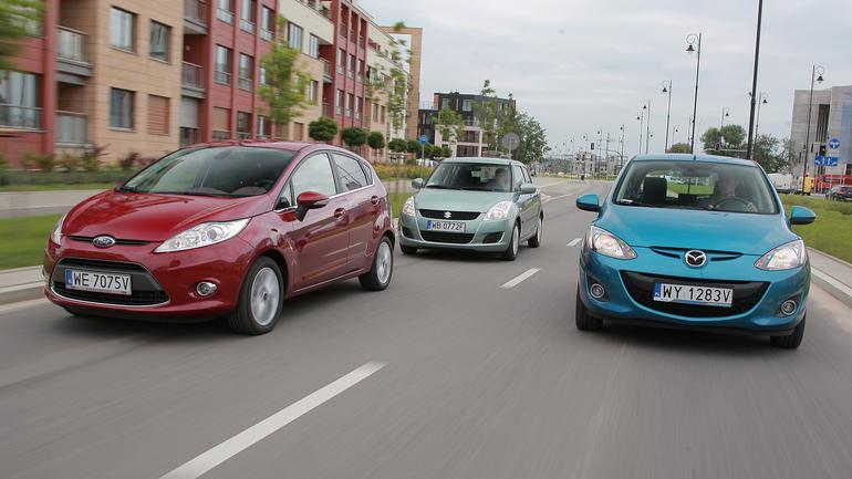 Małe, stylowe i trwałe miejskie auta za 25 tys. zł - Ford Fiesta kontra Suzuki Swift i Mazda 2