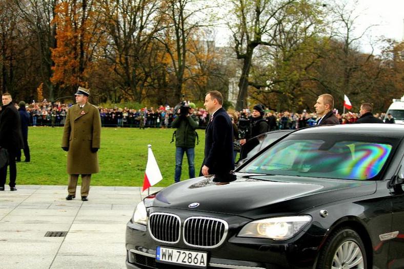 Prezydent Andrzej Duda i opancerzone BMW