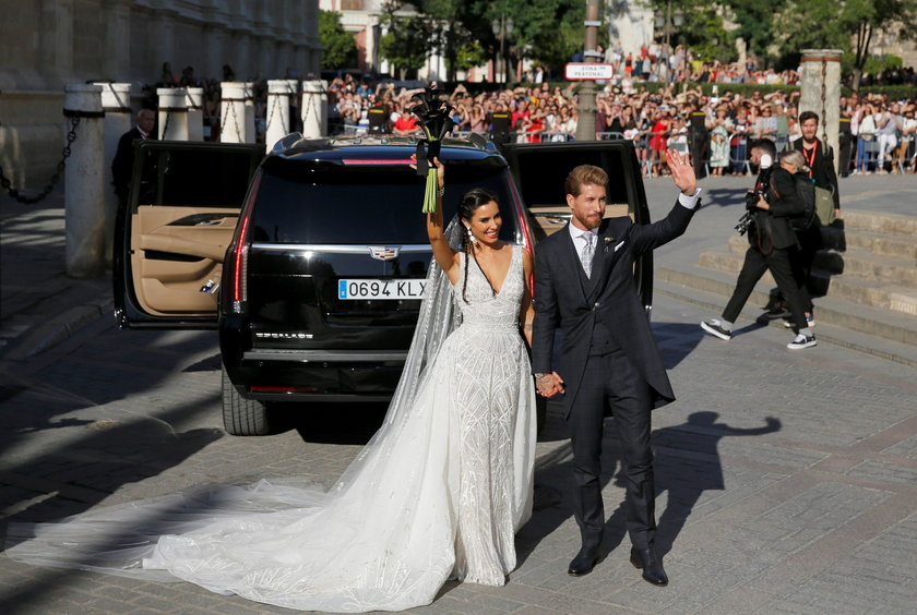 Sergio Ramos z żoną Pilar Rubio