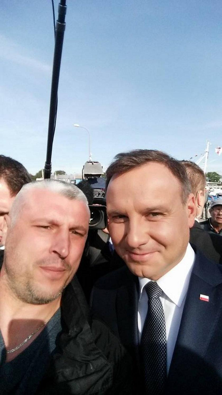 Jacek Muryn i prezydent Andrzej Duda