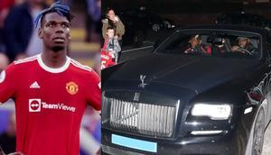 Paul Pogba's £300,000 Rolls Royce nearly smashed by a huge fallen tree branch