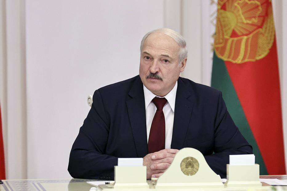 Lukasenko fehérorosz elnök Minszkben, miután az Európai Unió szankciókat vetett ki rá és további 14, magas rangú fehérorosz tisztviselőre / Fotó: MTI/BelTa/AP/Nikolai Petrov