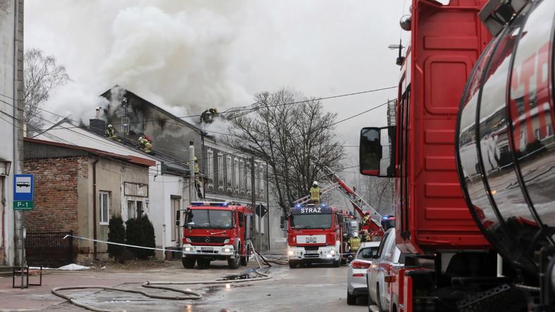 Pożar kamienicy w Piastowie