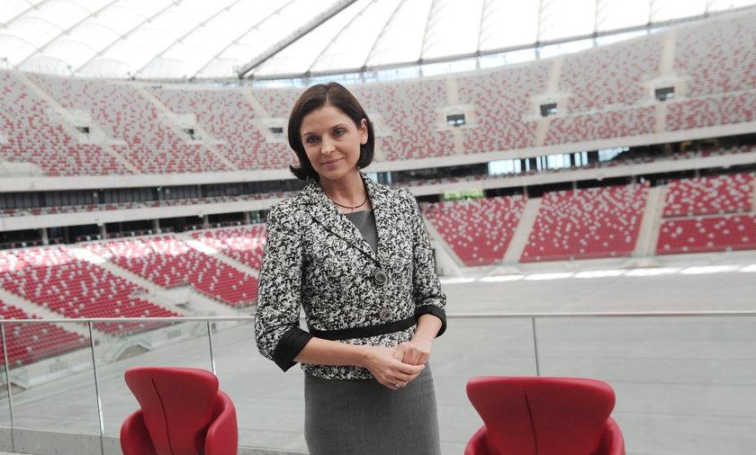 Joanna Mucha na Stadionie Narodowym