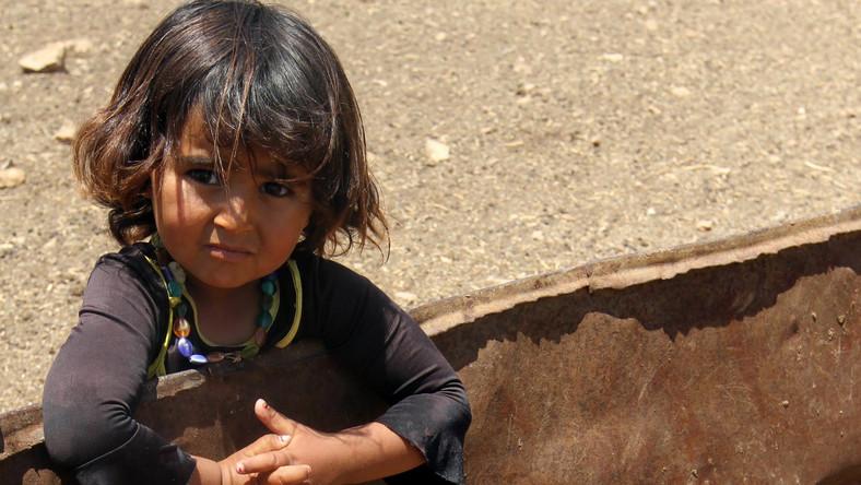 Dziewczynka z przedmieść miasta Tubas, z północnej części Zachodniego Brzegu Jordanu