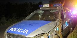 Dwa rozbite radiowozy i pięciu rannych. Policyjna akcja w Słupsku