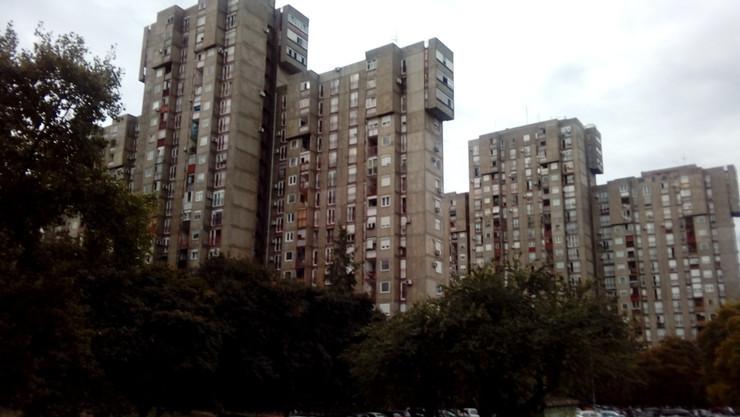 Zgrada u kojoj je izbio požar