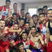 CRVENO-BELA DOMINACIJA Omladinci Crvene zvezde kao najmlađi tim u ligi postali šampioni Srbije!