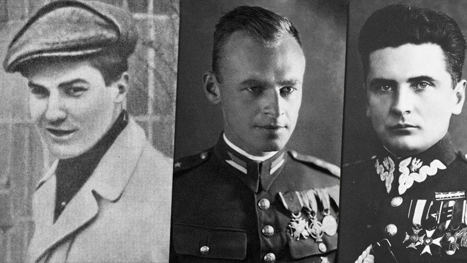 """Tadeusz Zawadzki """"Zośka"""", Witold Pilecki, Stefan Rowecki """"Grot"""""""